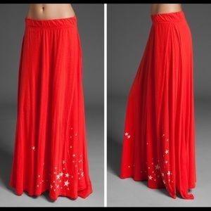 Wildfox Star Print Maxi Skirt